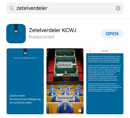 Zetelverdeler KCWJ in app store